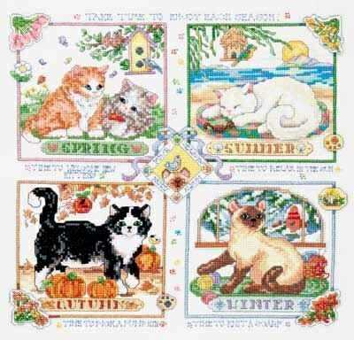 4 картинки с котами на каждое