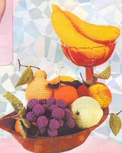 Вязание крючком: Вязаные фрукты овощи.