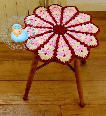 Вязание крючком кружок на стул