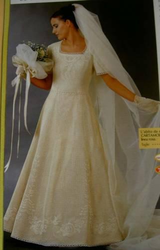 Свадебные платья вязанные крючком схемы.